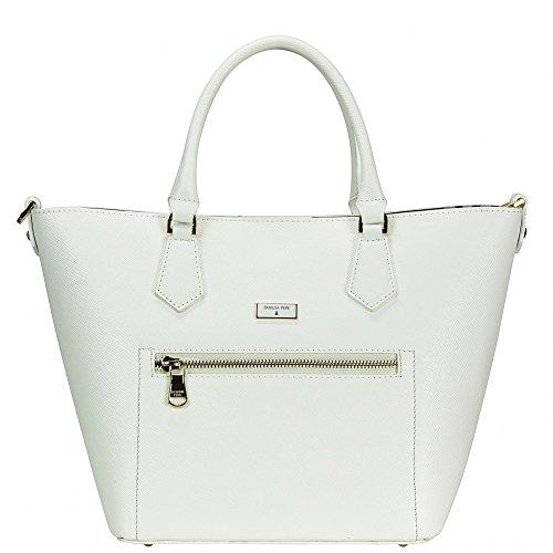Patrizia Pepe Candy Cadillac Handtasche Leder 22 cm Bianco