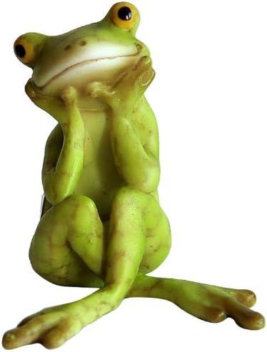 Top Collection Miniature Fairy Garden and Terrarium Yoga Frog Bhujangasana Cobra Pose Statue