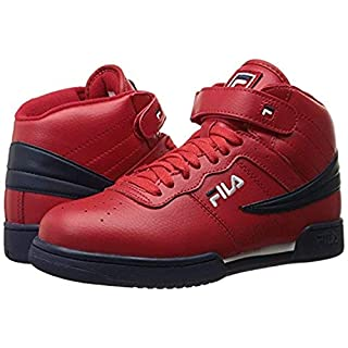 Fila Men's F-13V Lea/Syn Shoes Red/Navy/White 15 & Wiping Towel Bundle