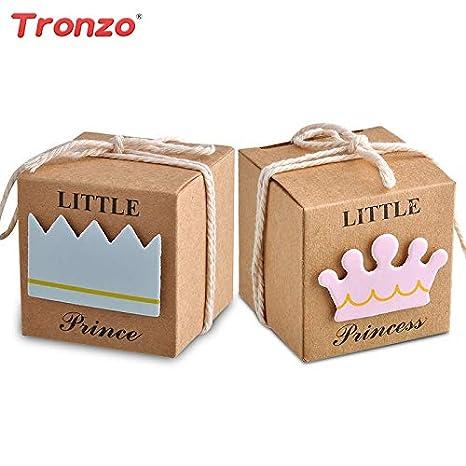 Amazon.com: 50 cajas de caramelos de Baby Shower Boy ...