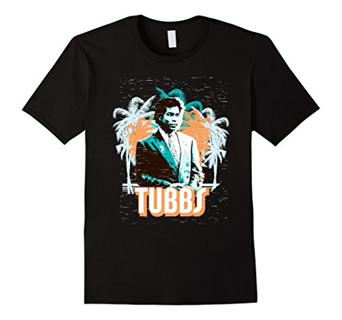 Miami Vice Tubbs and Palm Tree Scenery T-shirt for men, women