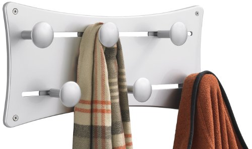 Safco Products 6422SL Adjustable Coat Wall Rack, Silver