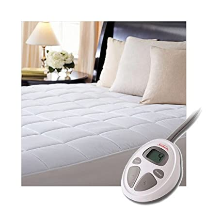 Amazon Com Sunbeam Luxury Quilted Electric Heated Twin Mattress Pad