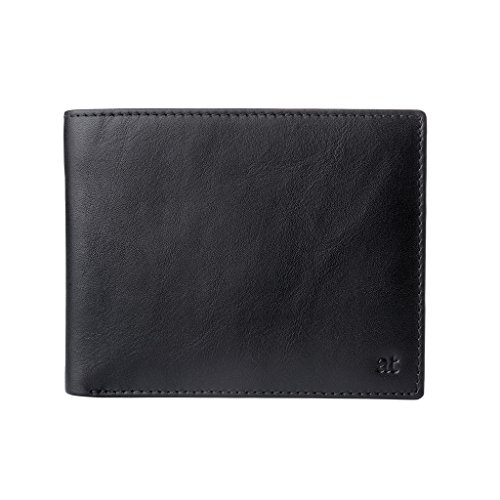 Card Genuine Pockets amp; Mens Antica Purse Coin in Black with Italian Holder Toscana Wallet Banknote Leather PpHwISq