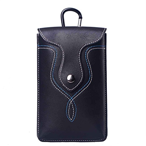 Sunmig PU Leather Cell Phone Holster Bag Smartphone Pouch Belt Case Waist Pocket