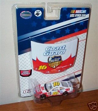 Greg Biffle #16 3M Coast Guard Heroes Ford Fusion Charlotte May 2007 Ford Fusion 1/64 Scale Car & Bonus Magnet 1/24 Scale Hood Winners Circle Edition