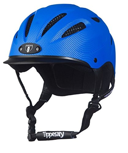 Tipperary Sportage Western Riding Helmet Low Profile Horse Safety Electric Blue (Medium)
