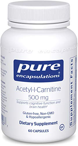 Pure Encapsulations - Acetyl-l-Carnitine 500 mg - Hypoallergenic Supplement to Promote Memory and Attention - 60 Capsules