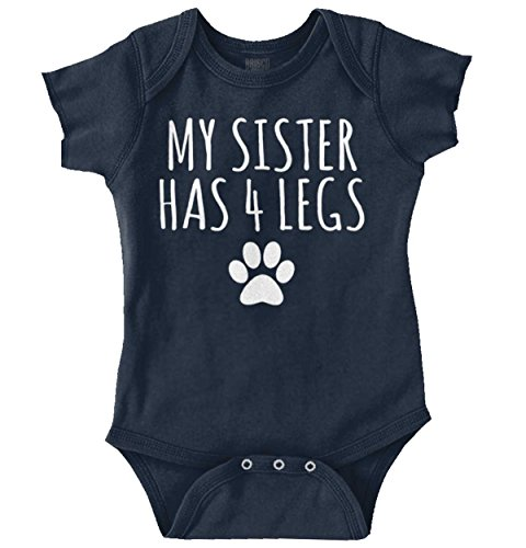 Sister 4 Legs Funny Cute Pet Animals Dogs Romper Bodysuit