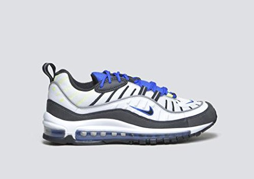 timeless design 78a91 c6e38 Galleon - Nike Air Max 98 Men s Running Shoes White Black Racer Blue Volt  640744-103 (11 D(M) US)