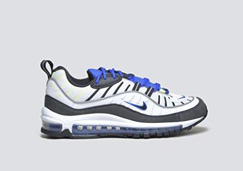 timeless design b2a00 1610c Galleon - Nike Air Max 98 Men s Running Shoes White Black Racer Blue Volt  640744-103 (11 D(M) US)