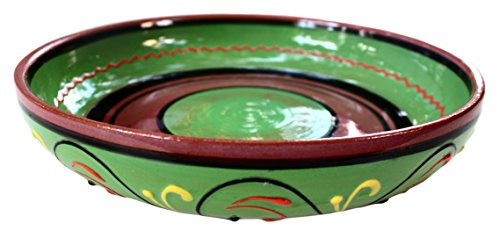 Terracotta Green, Serving Dish - Hand Painted From Spain by Cactus Canyon Ceramics
