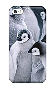 Hot Tpu Cover Case For Iphone/ 5/5s Case Cover Skin - Cute Arctic Penguins