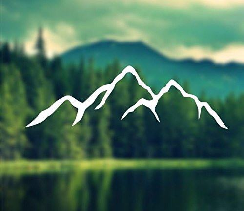 Decal - Mountains Silhouette - Car Decal, Laptop Decal, Macb