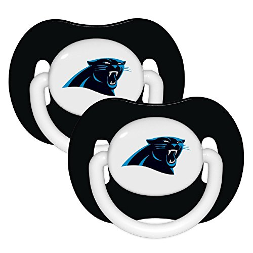 NFL Football 2014 Baby Infant Pacifier 2-Pack - Pick Team (Carolina Panthers - Solid)