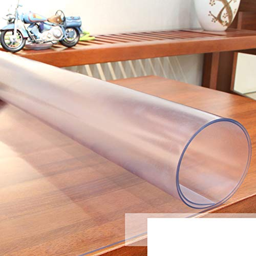 JIAOHJ PVC Crystal Plate Tablecloths,Waterproof Anti-scalding Oil-Proof Wash-Free Table Mat,for Coffee Table Furniture Decoration-c 90x140cm(35x55inch) ()