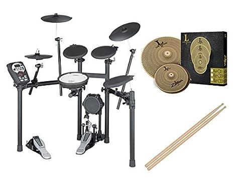Roland TD-11K-S Electronic V-Compact Drum Set w/Zildjian LV38 Cymbal Set (Roland Drum Cymbals)