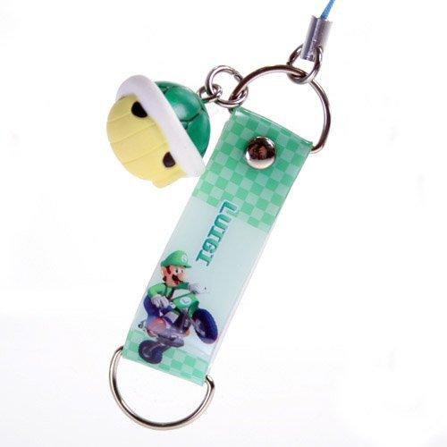 Mario Kart Wii Swinger - Luigi Strap w/ Green Shell