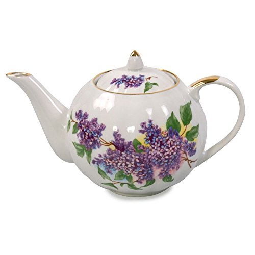 Teapot From the Lilac Tea Set Dulyovo Porcelain Factory 600ml