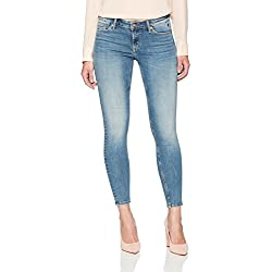 Denim Bloom Women's Low Rise Super Skinny Power Stretch Jean 26X28 Rugged Blue Wash