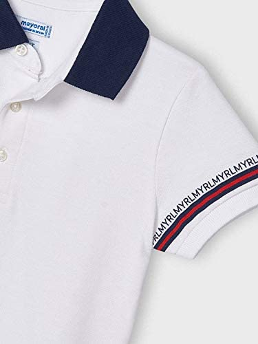 3103 Polo T-Shirt f/ür Jungen Weiss Mayoral