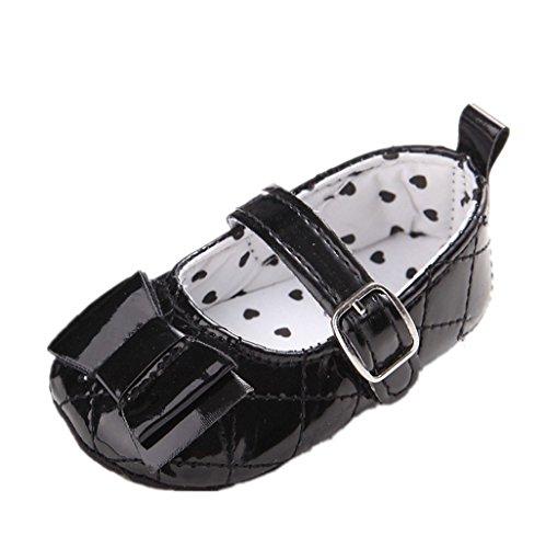 BabySchuhe Auxma Baby Mädchen Schuhe Soft Sole Anti Slip Schuhe Nette Prinzessin Prewalker Schuhe Für 3-18 Monate (6-12 M, Weiß) Schwarz