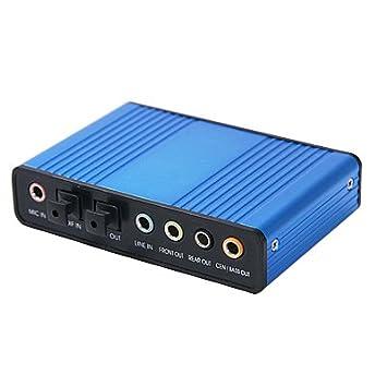 Adaptador de Tarjeta de Sonido óptico Externa USB 6 Canales ...