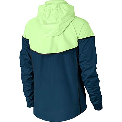 Nike Womens Windrunner Track Jacket Blue Force/Barley Volt/Black 883495-476 Size X-Small by Nike (Image #2)