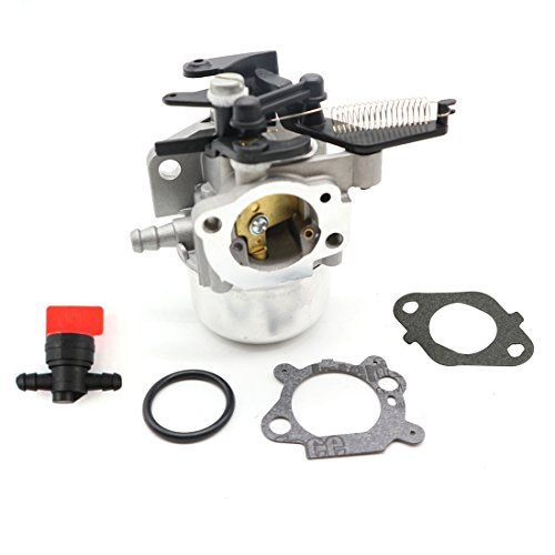 ANTO 796608 Carburetor Carb for Briggs & Stratton 591137 590948 Motor Engines 111000 11P000 121000 12Q000 with 1/4'' In Line Fuel Shut Cut Off Valves by ANTO