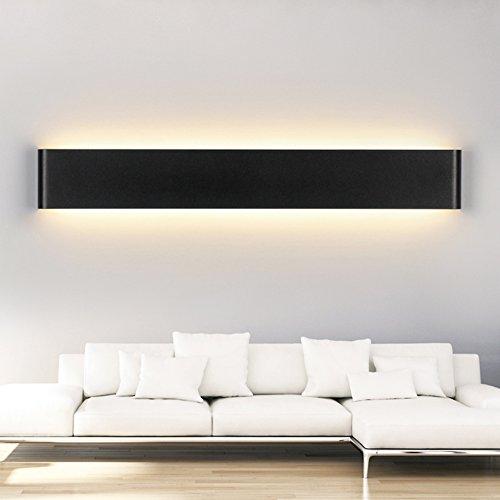LEDIARY 20W 61CM SMD 2835 100 LED Bathroom Lighting Waterproof Black LED Mirror Lamp,Contemporary Simplify,Warm White,Vanity Bathroom - Vanity Black Contemporary