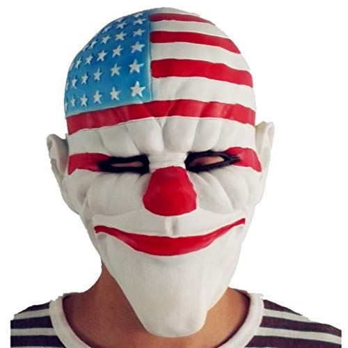 BBBL Payday 2 Mask Clown Joker Halloween Cosplay Costume Props A Yellow]()