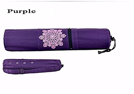 Purple  Yoga /& Pilates Mat Bag with Carry Strap /& Draw String