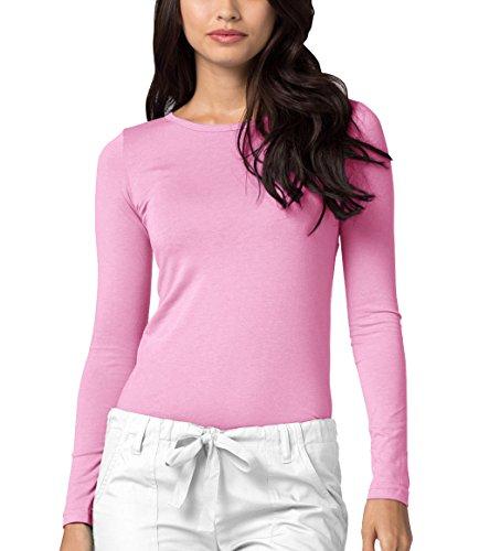 Adar Womens Comfort Long Sleeve T-Shirt Underscrub Tee - 2900 - Sherbet - XS