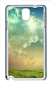Samsung Galaxy Note 3 N9000 Cases & Covers - Cloudy Field PC Custom Soft Case Cover Protector for Samsung Galaxy Note 3 N9000 - White