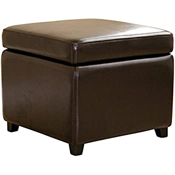 wholesale interiors full leather ottoman dark brown - Brown Leather Ottoman