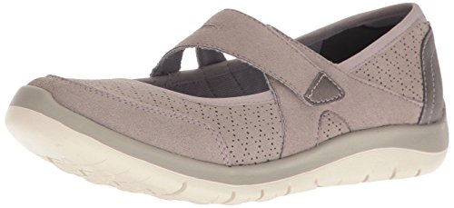 Aravon Women's Wembly Mary Jane Fashion Sneaker, Taupe, 7.5 D US
