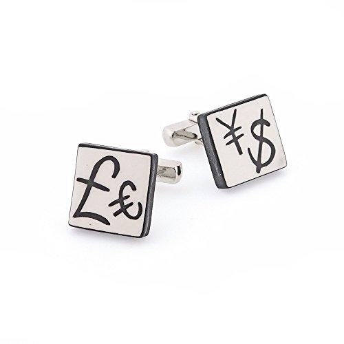 Ceramic Currency Cufflinks. Made in England (Ceramic Mens Cufflinks)