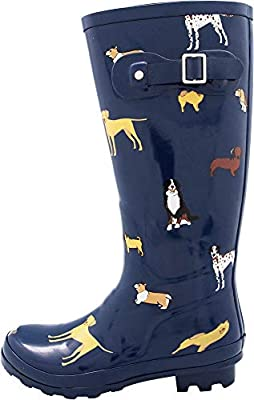 NORTY Women's Hurricane Wellie - 14 Solids and Prints - Glossy & Matte Waterproof Hi-Calf Rainboots