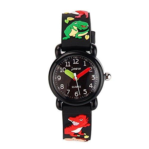 Kids Cartoon Watch , 3D Waterproof Children Wristwatches Cartoon Kids Wrist Watch With Toddler Children Great For Boy And Girl Ages 3-7 Time Teacher