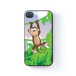 Monkey Carcasa Protectora Snap-On en Plastico Negro para Apple® iPhone 4 / 4s de Nick Greenaway + Se incluye un protector de pantalla transparente GRATIS