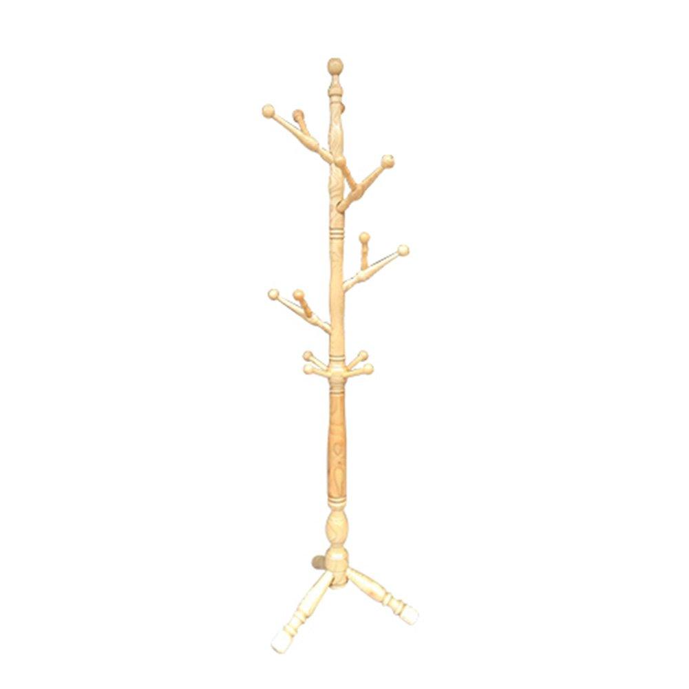 LIANGJUN ハンガーラック 帽子 スタンドハンガー 複数のフック ユニークな より厚い メインポール 3足 ブラケット、 竹 ハンガーラック (色 : Natural wood color) B07F5KKGGM Natural wood color