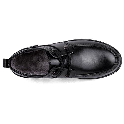 Pattini Casual Cuoio Scarpe Invisibile di da LM Black Tacco degli Uomini all'Interno LLP Corsa Alto di Ispessimento Scarpe di Scarpe Scarpe da Lavoro Affari PCAwnOq