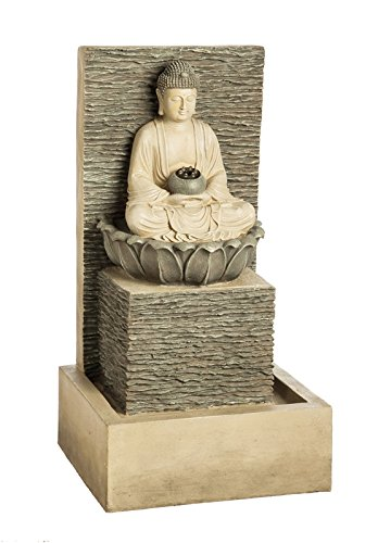 Lighted Buddha Fountain by Evergreen