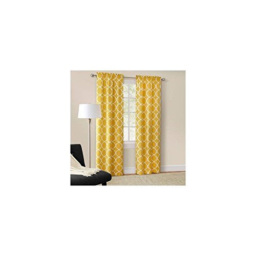 Mainstays Calix Fashion Window Curtain, Set Of 2 Mimosa 56Inx84in 8853