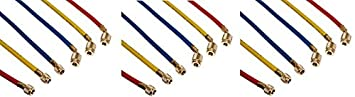 Yellow Jacket 22985 45 degree SealRight Fitting, 60', Red/Yellow/Blue (Pack of 3) 60 Fotronic Corporation RIT22985