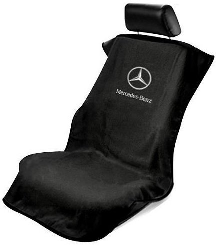 Logo Car Seat Towel (Seat Armour SA100MBZB Black 'Mercedes Benz' Seat Protector Towel)