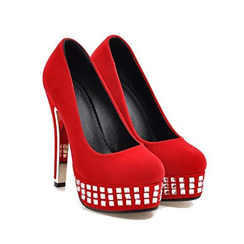 Marea Femminile I Dimensioni Impermeabili Tacco Strass Ad Della Piattaforma Altissima Codice Pattini Red18 Sexy HqaqBnw7P