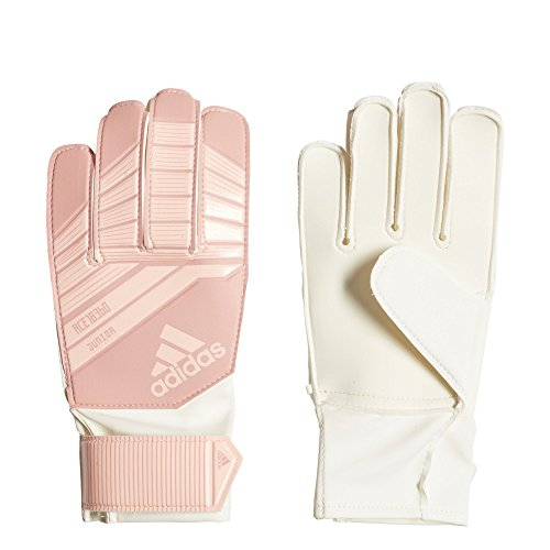 adidas Predator Fingersave Junior Soccer Gloves,Clear Orange/Trace Pink,Size 5 (Fingersave Gloves)