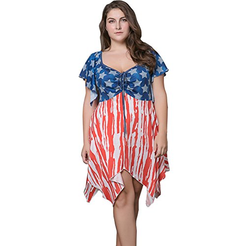Felove-Womens-Tie-Dye-American-Flag-Dress-Plus-Size