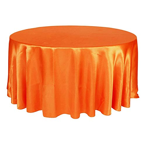 5pcs/Pack Gold Color 120 Inch Round Satin Tablecloths Table Cover for Wedding Party Restaurant Banquet Decorations  Coral Orange B07S67W2H8
